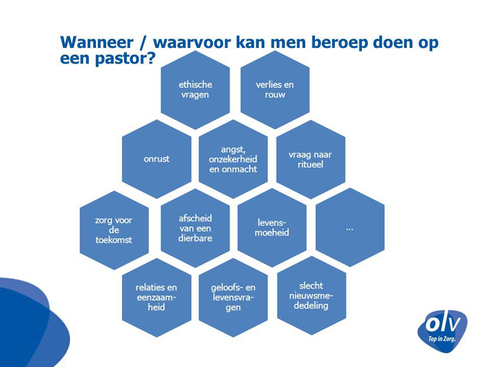 Wanneer / waarvoor kan men beroep doen op een pastor?