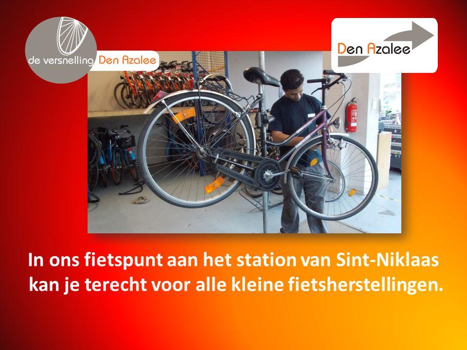 In ons fietspunt aan het station van Sint-Niklaas kan je terecht voor alle kleine fietsherstellingen.