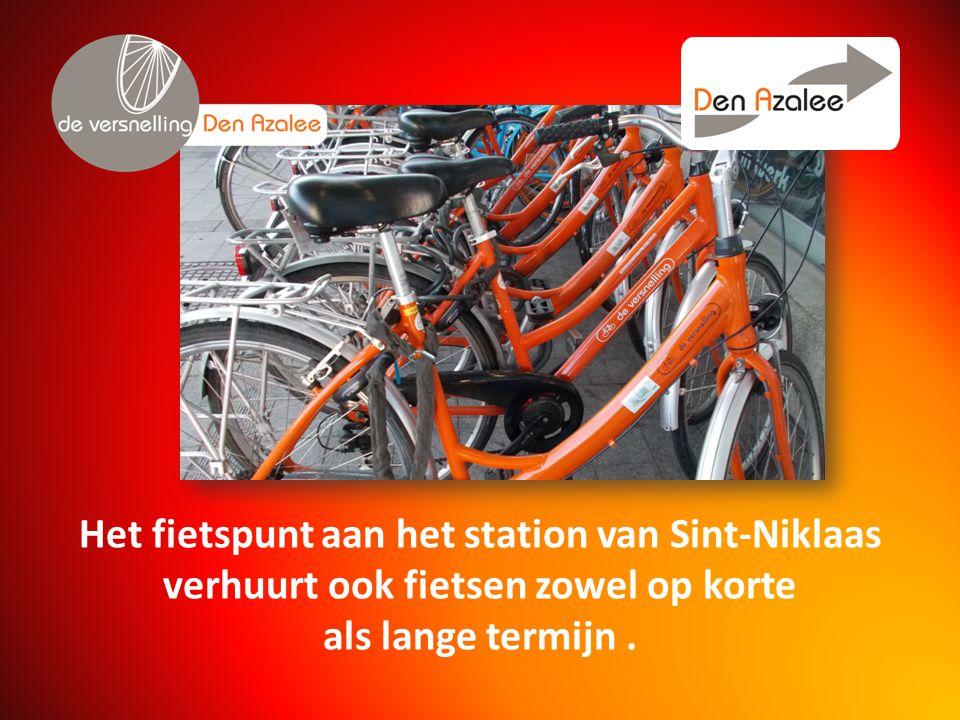 Het fietspunt aan het station van Sint-Niklaas verhuurt ook fietsen zowel op korte als lange termijn.