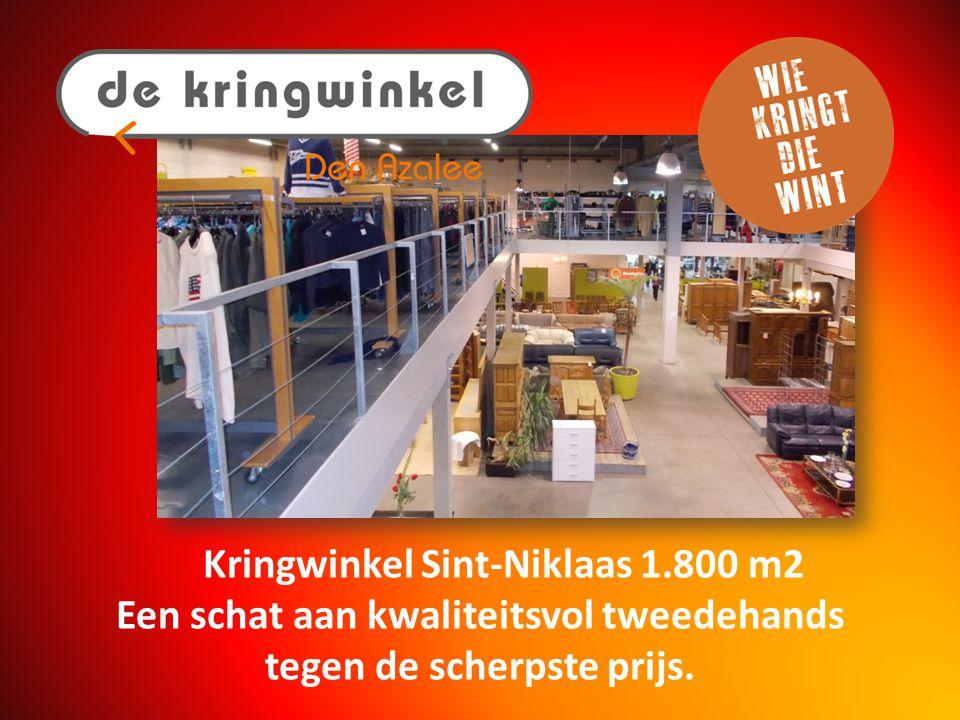 Kringwinkel Sint-Gillis-Waas 800 m2 Tweedehands goederen en kleding in een modern winkelcomplex.