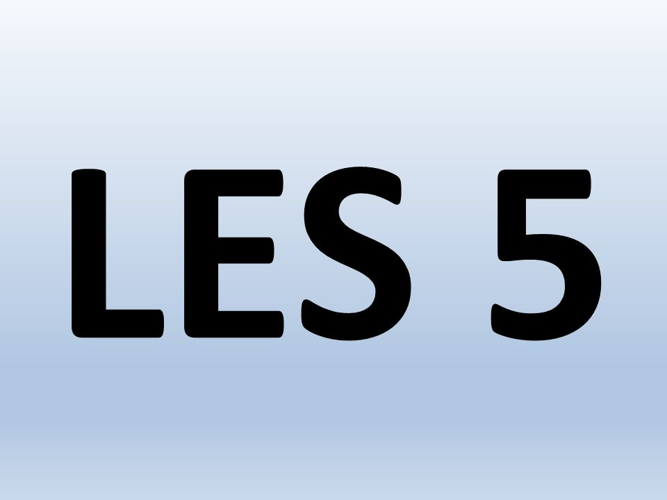 LES 5