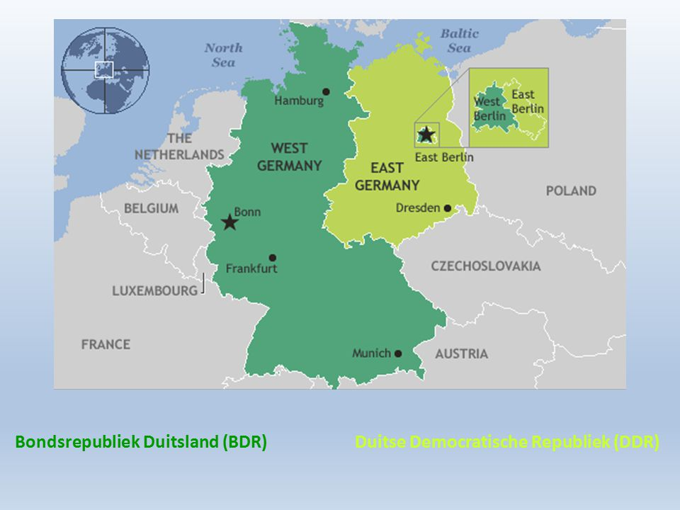 Bondsrepubliek Duitsland (BDR)Duitse Democratische Republiek (DDR)