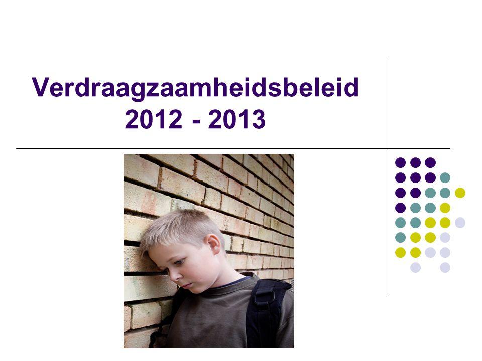 Verdraagzaamheidsbeleid 2012 - 2013