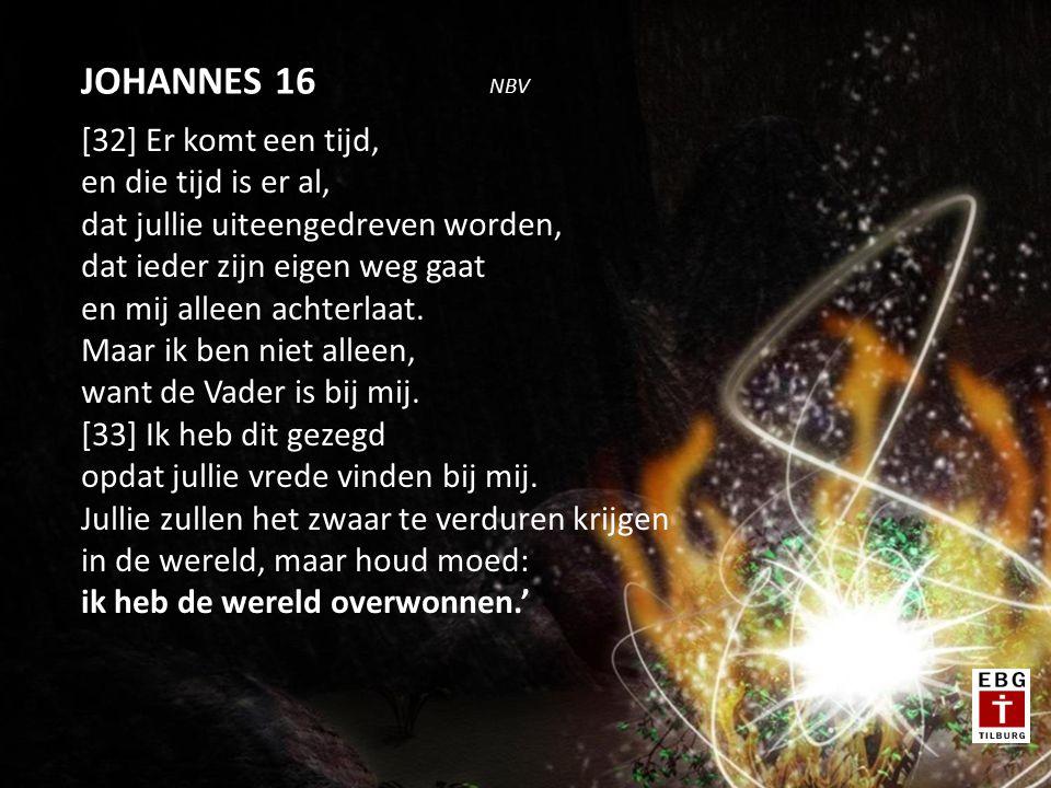 [31] Onderweg zei Jezus tegen hen: 'Jullie zullen mij deze nacht allemaal afvallen, want er staat geschreven: Ik zal de herder doden, en de schapen van zijn kudde zullen uiteengedreven worden.