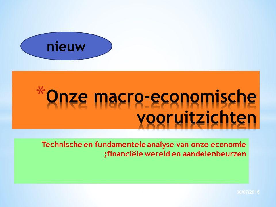 Technische en fundamentele analyse van onze economie ;financiële wereld en aandelenbeurzen 30/07/20155 nieuw