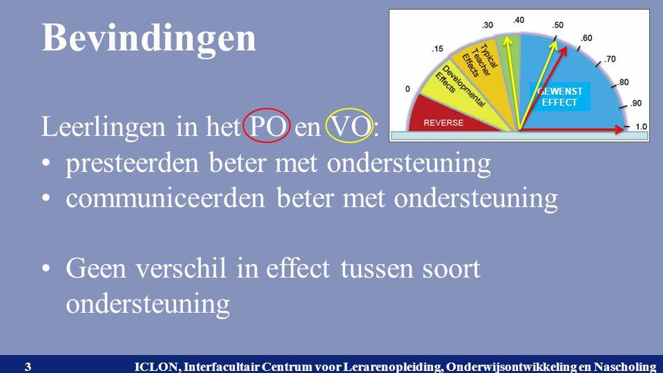 Universiteit Leiden. Bij ons leer je de wereld kennen. ICLON, Interfacultair Centrum voor Lerarenopleiding, Onderwijsontwikkeling en Nascholing Bevind