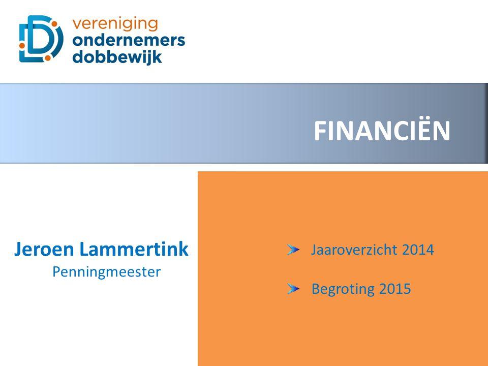 FINANCIËN Jaaroverzicht 2014 Begroting 2015 Jeroen Lammertink Penningmeester