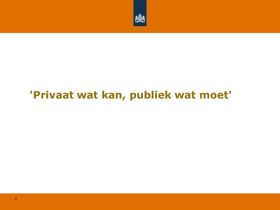 9 'Privaat wat kan, publiek wat moet'