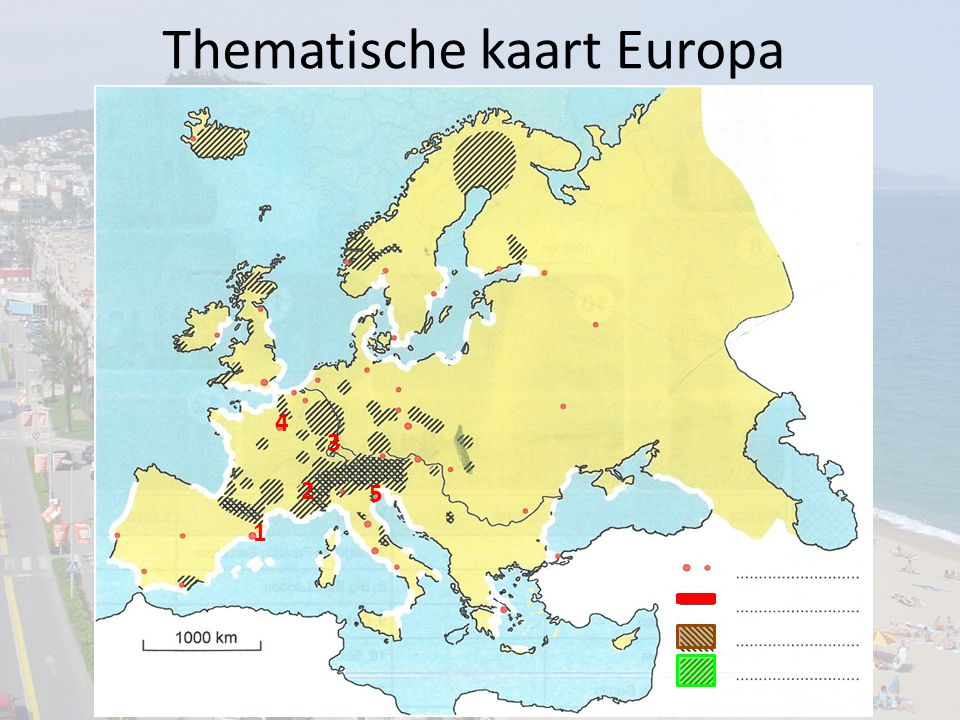 Thematische kaart Europa 2 4 3 5 1