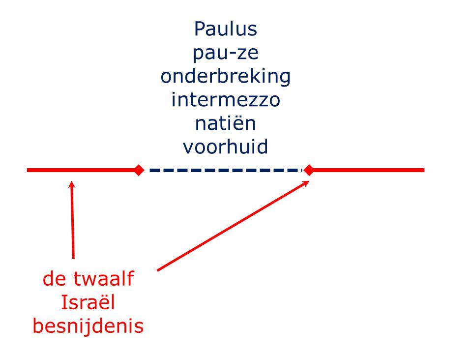 Paulus pau-ze onderbreking intermezzo natiën voorhuid de twaalf Israël besnijdenis
