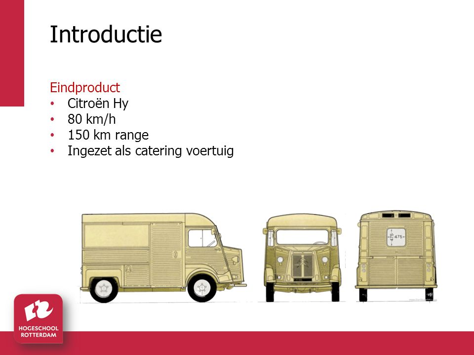 Introductie Eindproduct Citroën Hy 80 km/h 150 km range Ingezet als catering voertuig