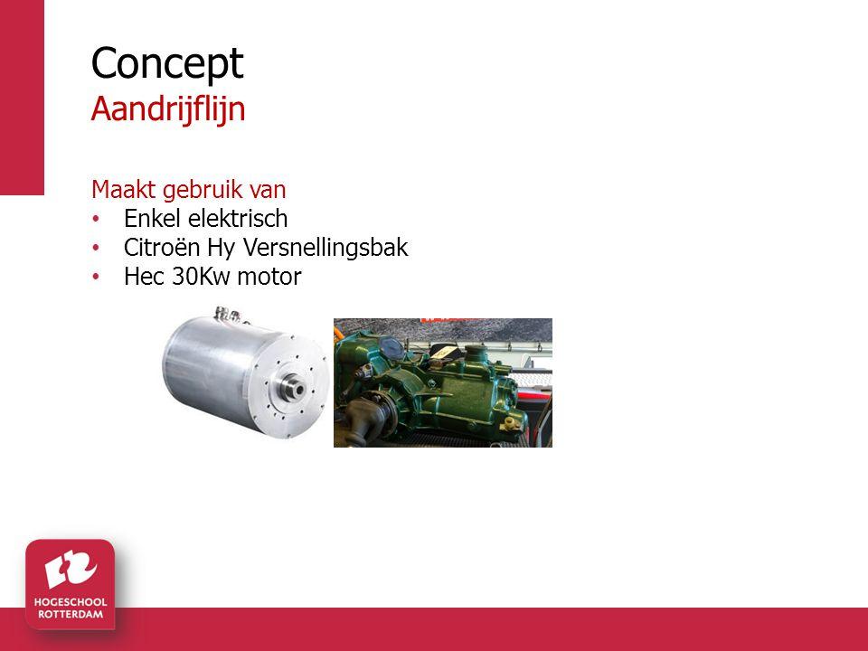 Concept Aandrijflijn Maakt gebruik van Enkel elektrisch Citroën Hy Versnellingsbak Hec 30Kw motor