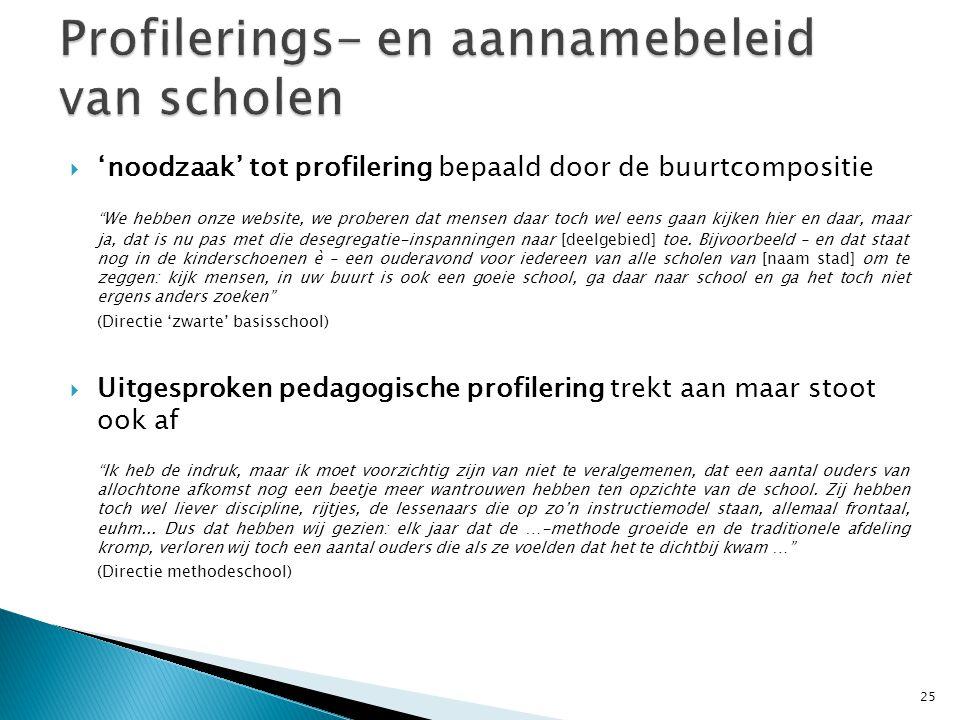  kansarmere leerlingenpopulatie: meer nadruk op zorg => ongewenste push- en pulleffecten Da's eigenlijk het probleem: hoe meer zorg dat ge aanbiedt...