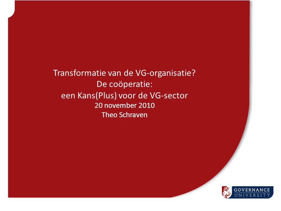 Transformatie van de VG-organisatie? De coöperatie: een Kans(Plus) voor de VG-sector 20 november 2010 Theo Schraven