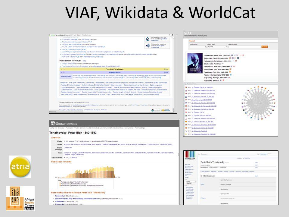 VIAF, Wikidata & WorldCat
