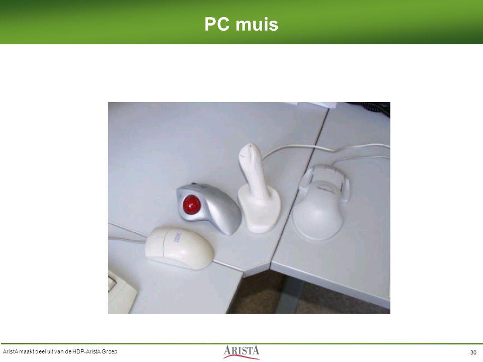 AristA maakt deel uit van de HDP-AristA Groep 30 PC muis