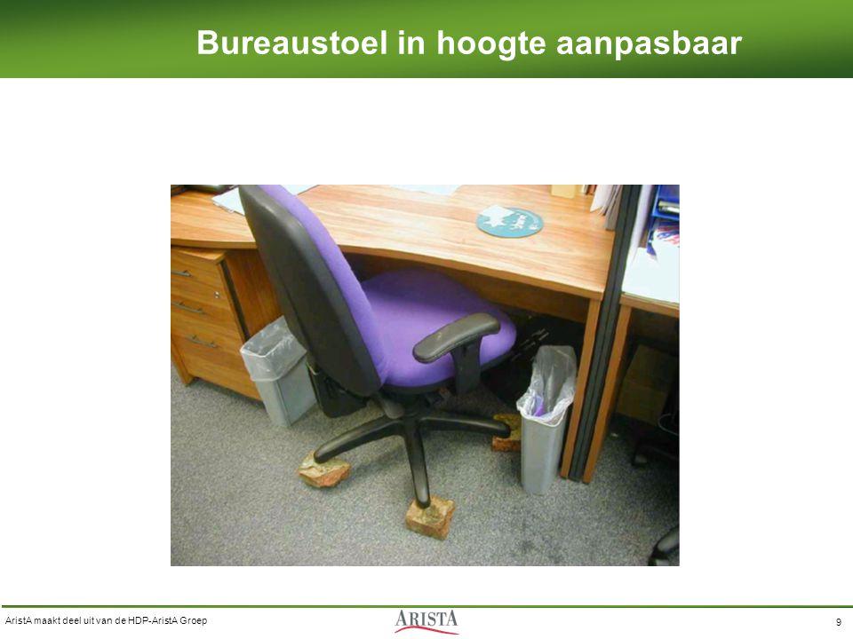 AristA maakt deel uit van de HDP-AristA Groep 9 Bureaustoel in hoogte aanpasbaar