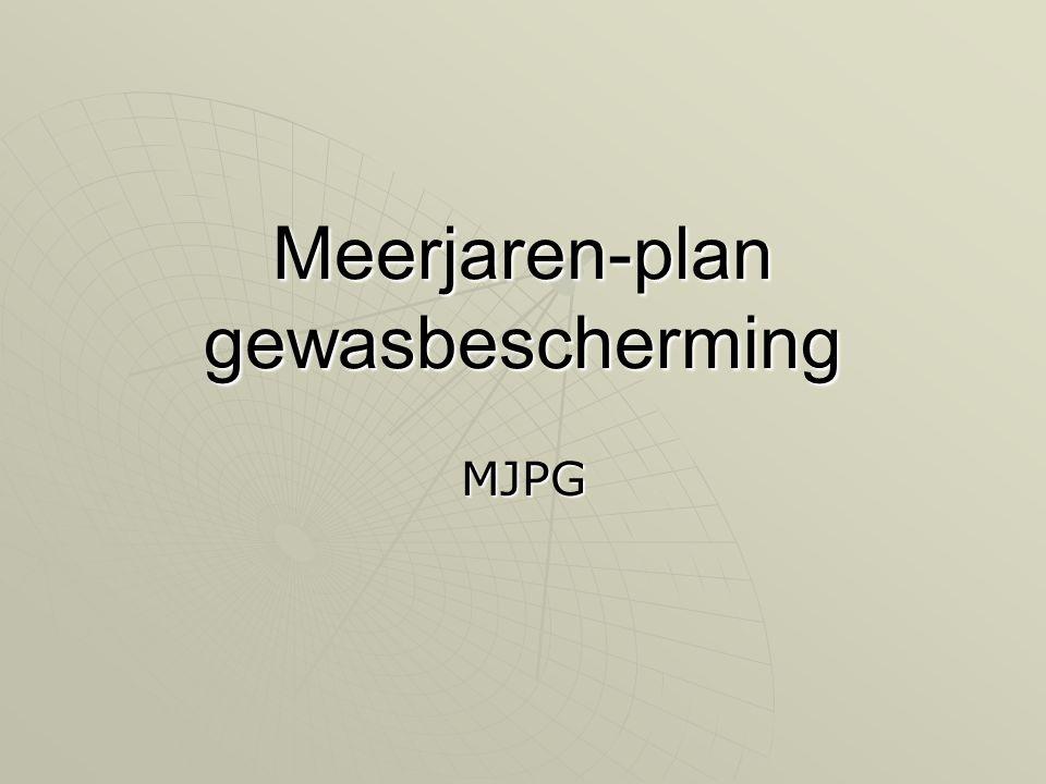 Meerjaren-plan gewasbescherming MJPG