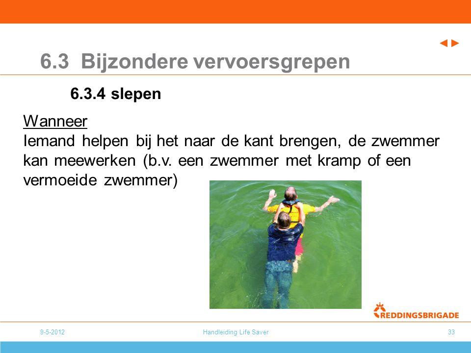 Handleiding Life Saver33 6.3 Bijzondere vervoersgrepen 6.3.4 slepen Wanneer Iemand helpen bij het naar de kant brengen, de zwemmer kan meewerken (b.v.