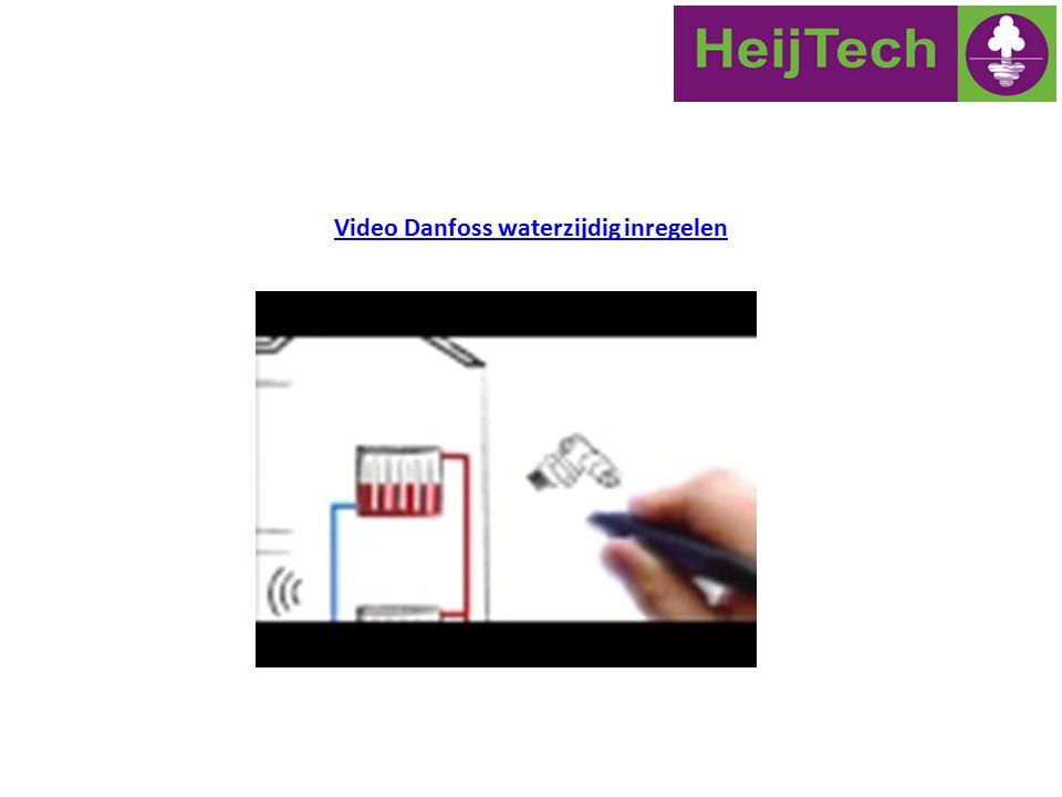 Video Danfoss waterzijdig inregelen