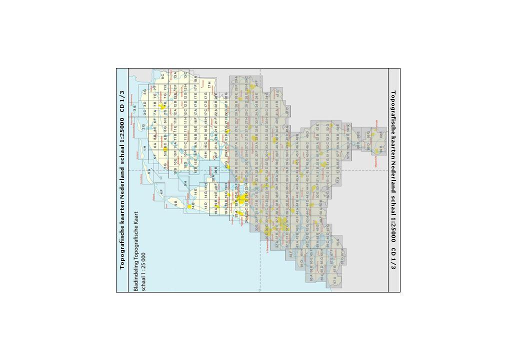 Topografische kaarten Nederland schaal 1:25000 CD 1/3