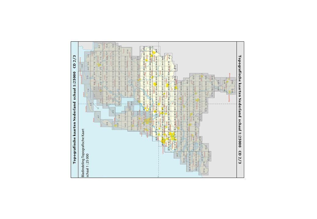Topografische kaarten Nederland schaal 1:25000 CD 2/3