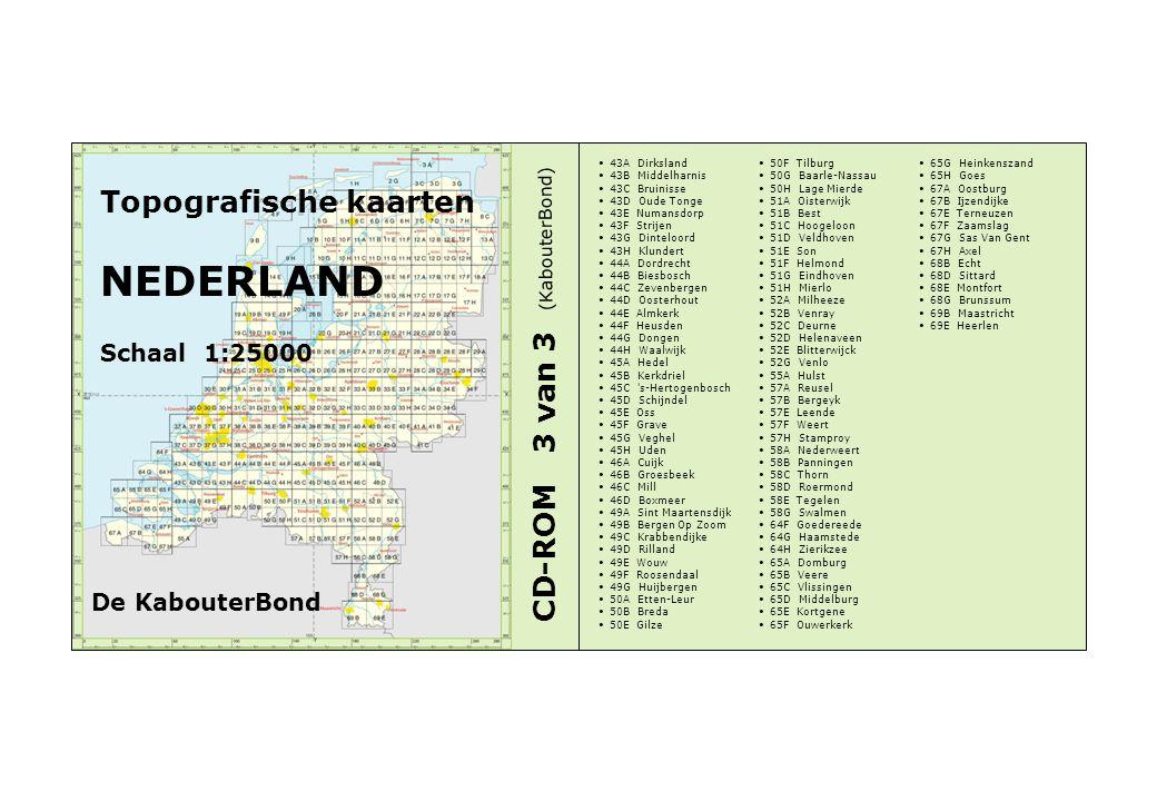 Topografische kaarten NEDERLAND Schaal 1:25000 CD-ROM 3 van 3 43A Dirksland 43B Middelharnis 43C Bruinisse 43D Oude Tonge 43E Numansdorp 43F Strijen 4
