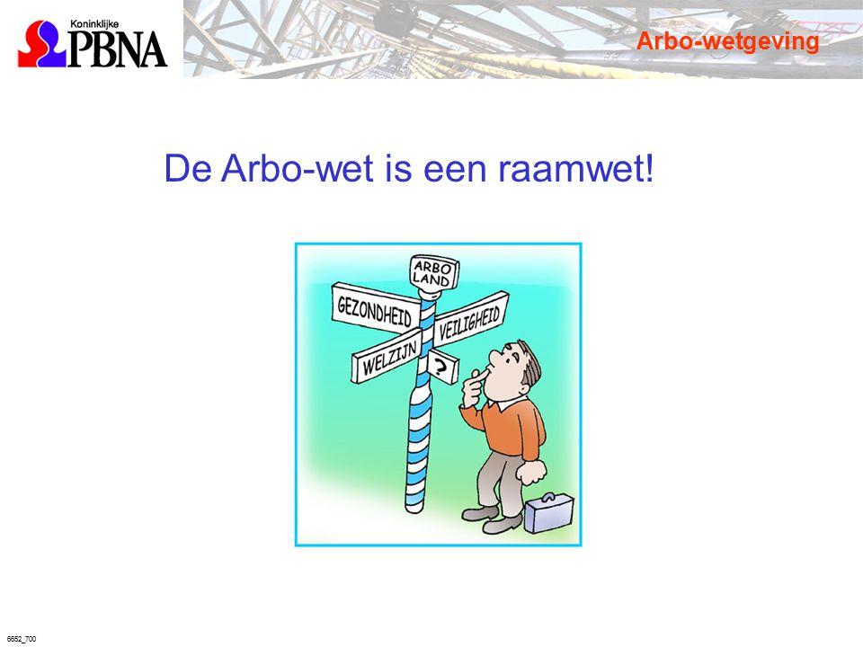 6652_700 De Arbo-wet is een raamwet! Arbo-wetgeving