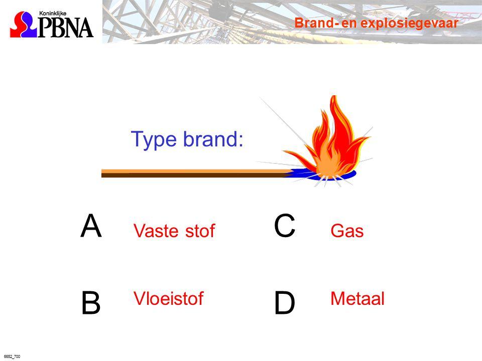 6652_700 Type brand: ACBDACBD Vaste stof Vloeistof Gas Metaal Brand- en explosiegevaar