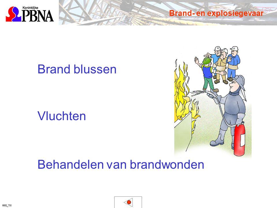 6652_700 Brand blussen Vluchten Brand- en explosiegevaar Behandelen van brandwonden