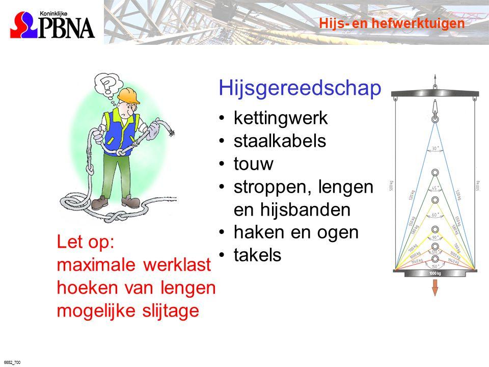 6652_700 kettingwerk staalkabels touw stroppen, lengen en hijsbanden haken en ogen takels Let op: maximale werklast hoeken van lengen mogelijke slijta
