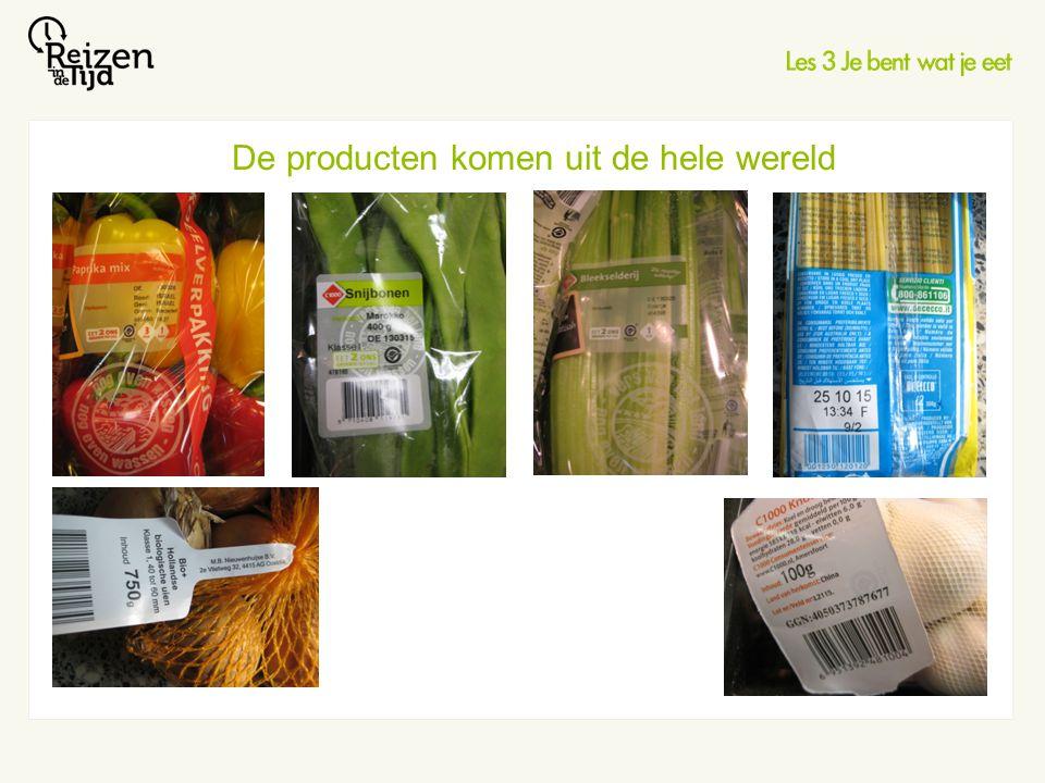 De producten komen uit de hele wereld