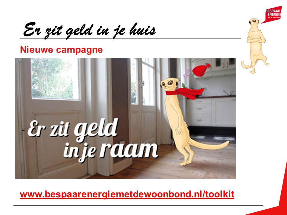 Nieuwe campagne Er zit geld in je huis www.bespaarenergiemetdewoonbond.nl/toolkit