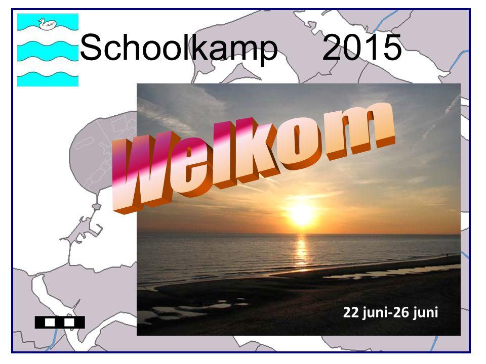 Kamp groep 8 2015 Informatieavond 1Kampplaats 2Kampleiding 3Aankomst/vertrek 4Kampboekje 5Medische zorg 6Programma 7Regels afspraken 8Slot