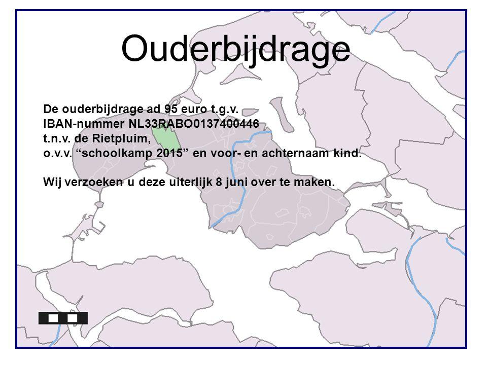 Ouderbijdrage De ouderbijdrage ad 95 euro t.g.v. IBAN-nummer NL33RABO0137400446 t.n.v.