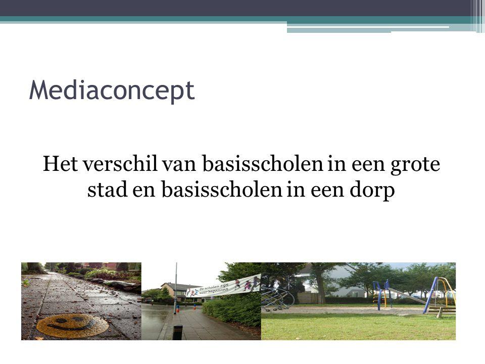 Mediaconcept Het verschil van basisscholen in een grote stad en basisscholen in een dorp