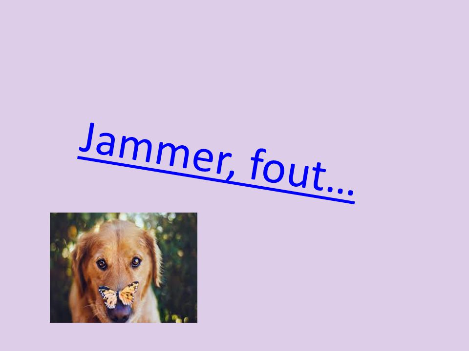 Jammer, fout…