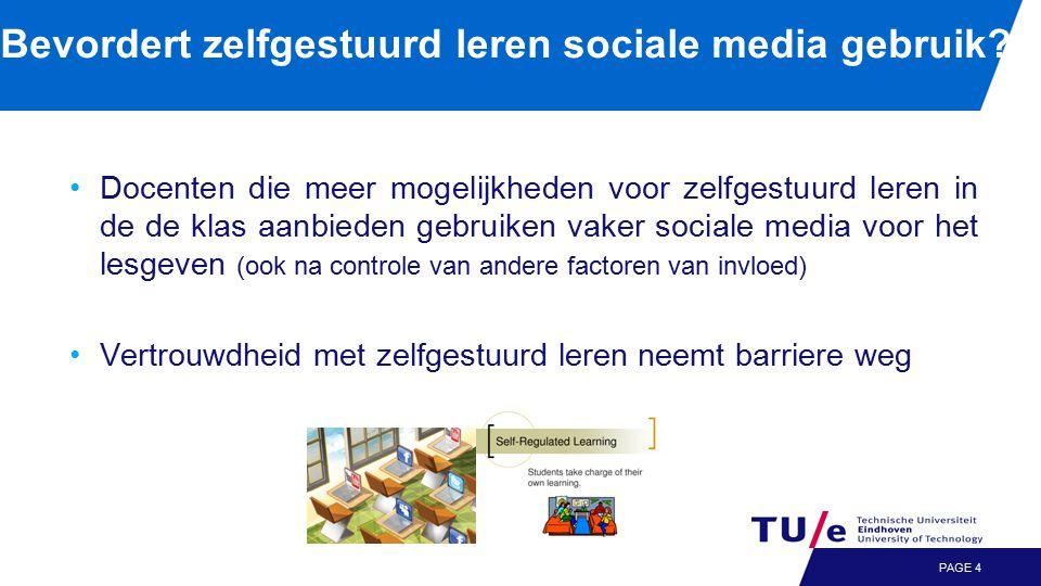 Bevordert zelfgestuurd leren sociale media gebruik.