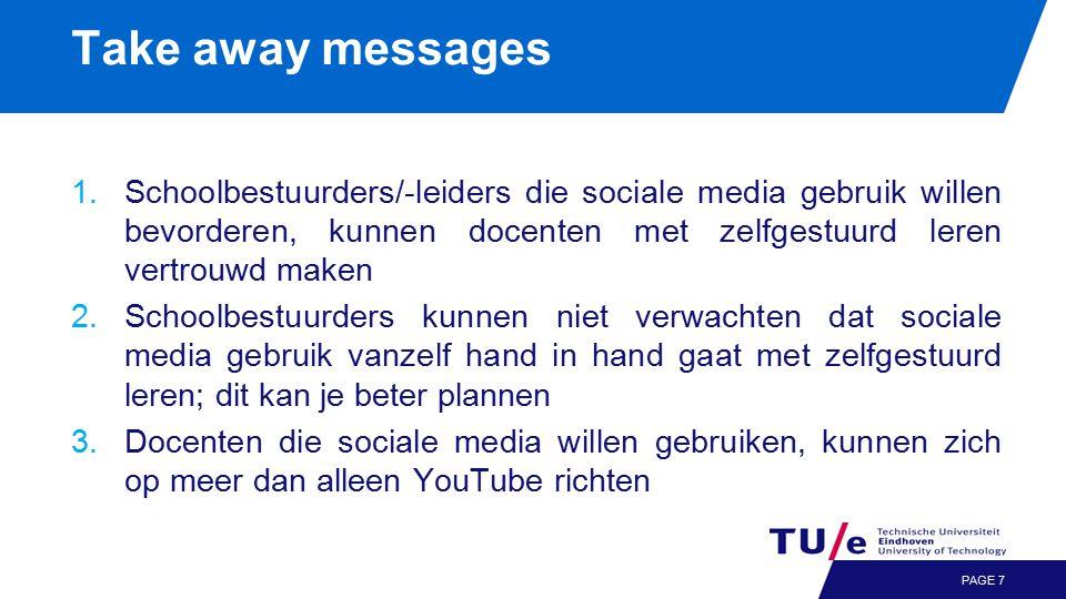 Sociale media & zelfgestuurd leren Meer info: rapport op www.kennisnet.nl www.kennisnet.nl Meer info: http://umatzat.nethttp://umatzat.net Meer info: meet & greet Uwe Matzat in het foyer PAGE 8