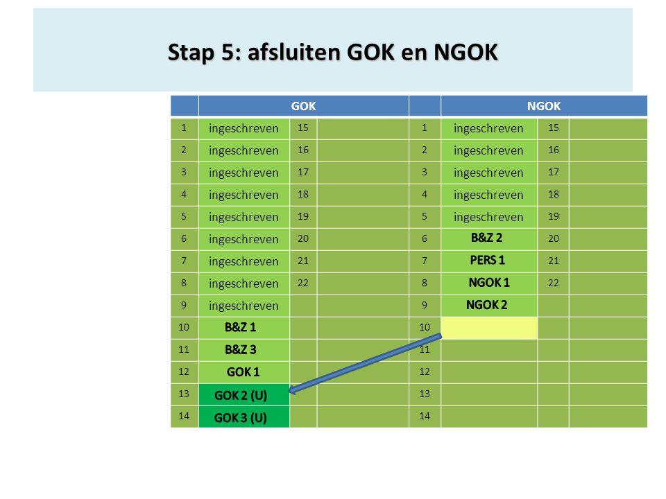 GOKNGOK 1 ingeschreven 151 ingeschreven 15 2 ingeschreven 162 ingeschreven 16 3 ingeschreven 173 ingeschreven 17 4 ingeschreven 184 ingeschreven 18 5