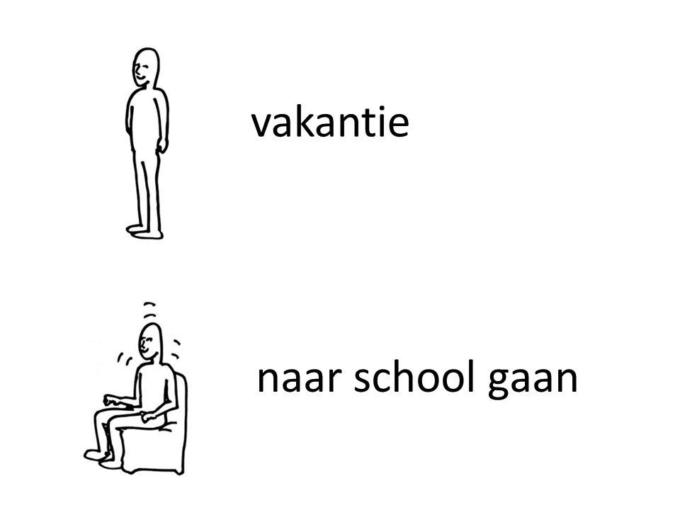vakantie naar school gaan