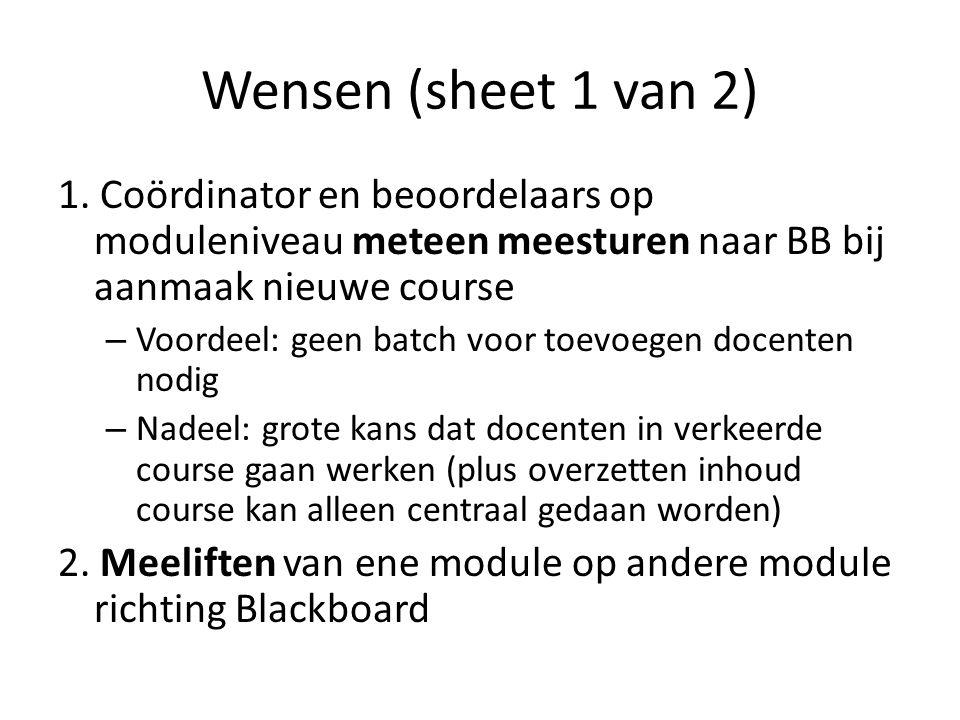 Wensen (sheet 1 van 2) 1.