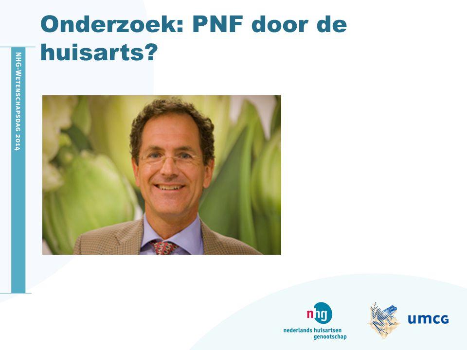Onderzoek: PNF door de huisarts?