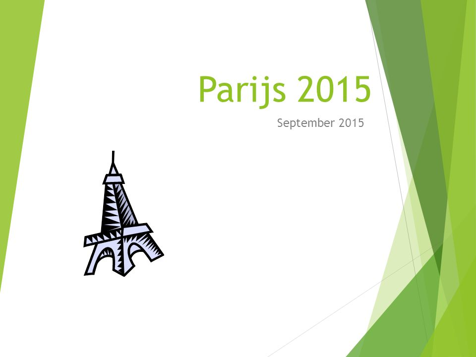 Parijs 2015 September 2015
