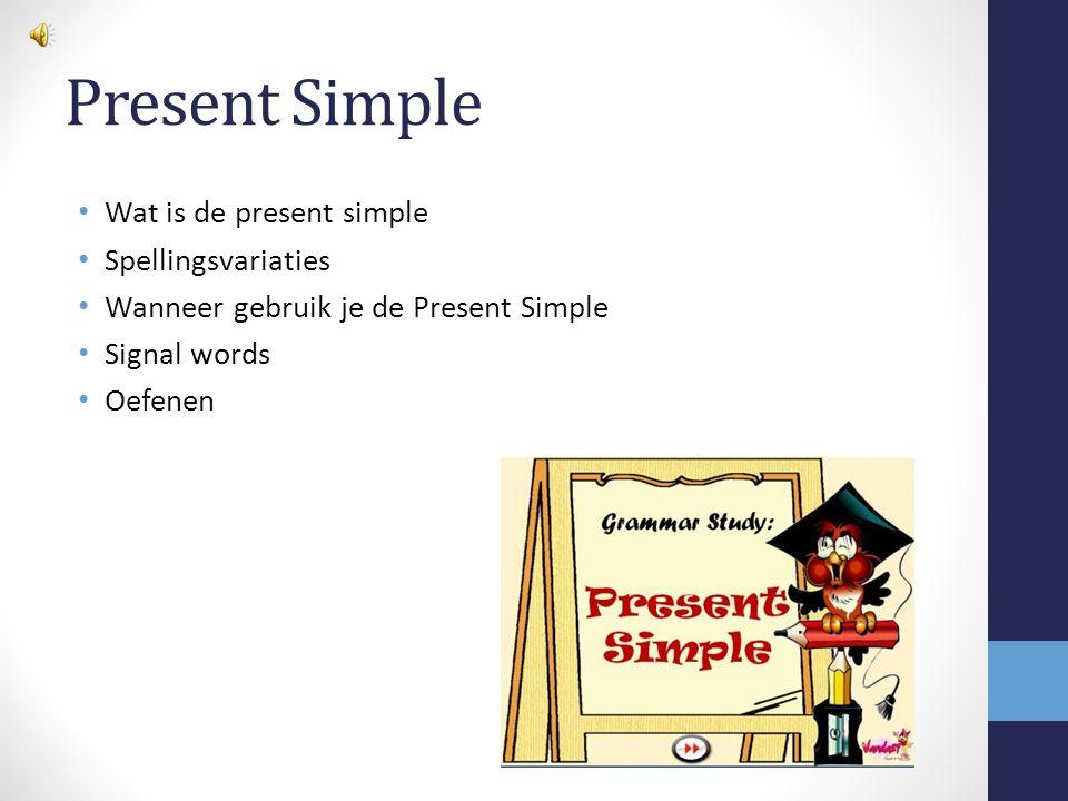Wat is de Present Simple.