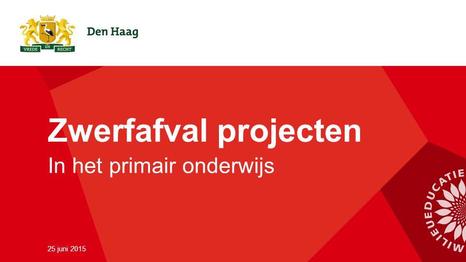Zwerfafval projecten In het primair onderwijs 25 juni 2015