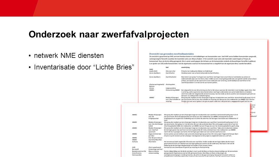 Onderzoek naar zwerfafvalprojecten netwerk NME diensten Inventarisatie door Lichte Bries