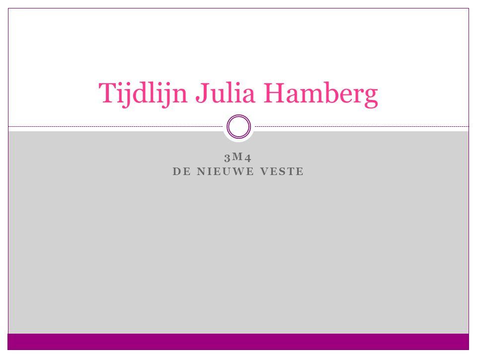 3M4 DE NIEUWE VESTE Tijdlijn Julia Hamberg