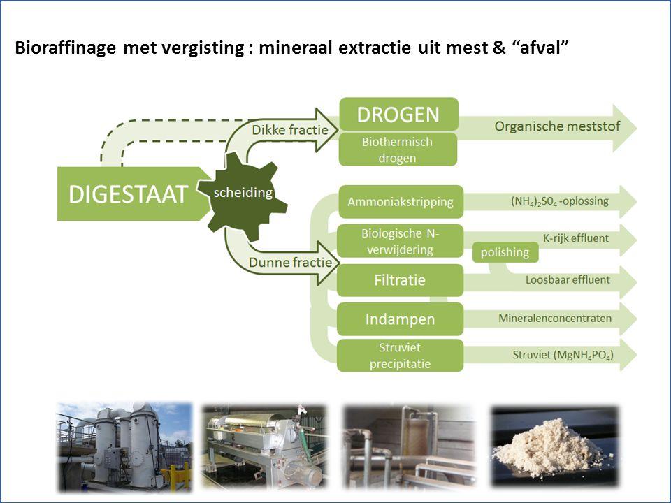 Bioraffinage met vergisting : mineraal extractie uit mest & afval