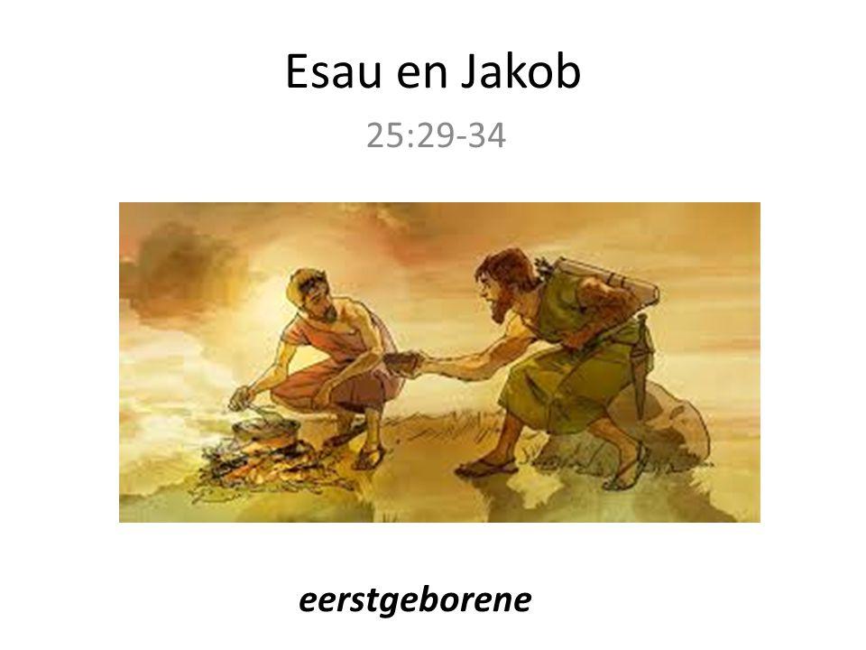 Esau en Jakob 25:29-34 eerstgeborene